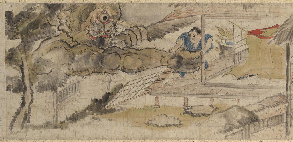 平太郎をつかむ一つ目の大きな化物