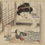 (日本語) 女の首飛び回りて、平太郎をなでる怪