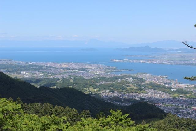 比叡山から望む琵琶湖