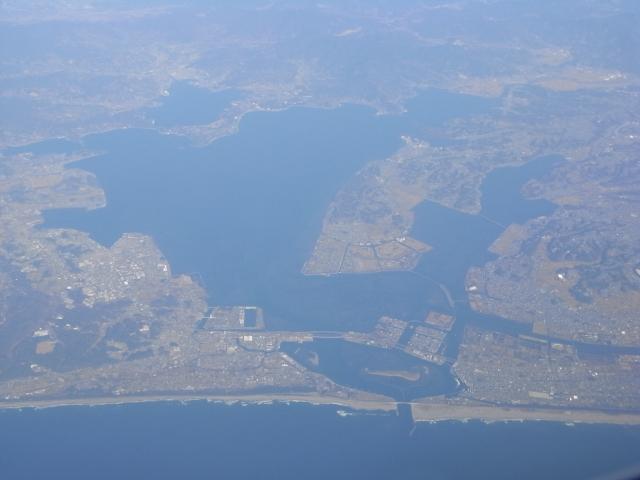 空から見た浜名湖