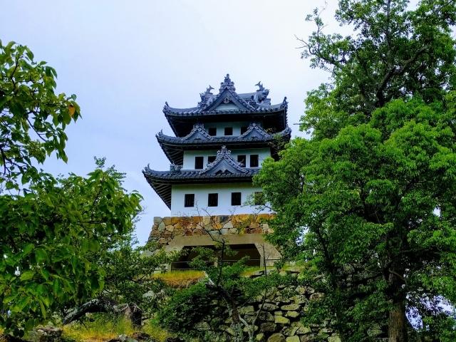洲本城跡の展望台